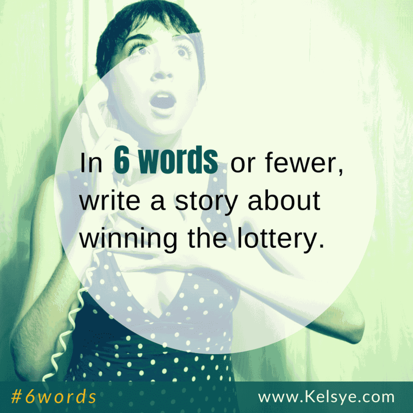 USED 6words sq winning the lottery