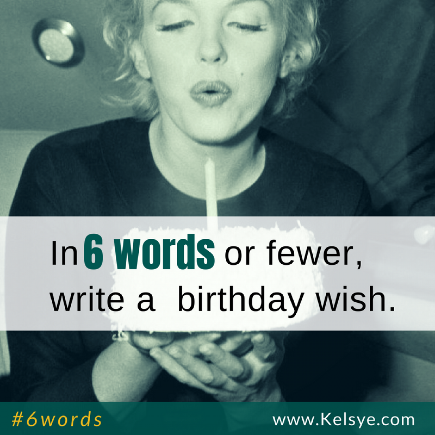 USED 6words sq birthday wish
